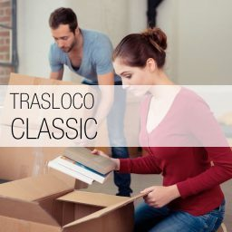 Con il Trasloco Classic, tu ci prepari i tuoi effetti personali imballati, e noi pensiamo a tutto il resto, smontaggio mobili, carico e scarico delle scatole, trasporto in tutta Roma fino al tuo nuovo appartamento, e rimontaggio del mobilio.